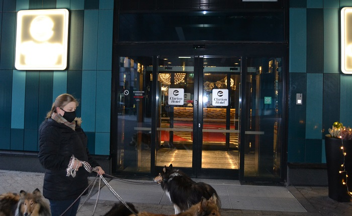 Lähdön hetki koitti Clarion Aviapoliksen Happy Dog -tapahtumasta. Ensi vuonna taas uudestaan!